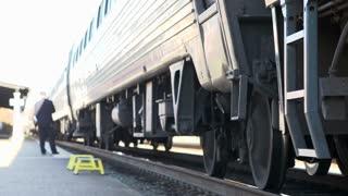 Train preparing to depart