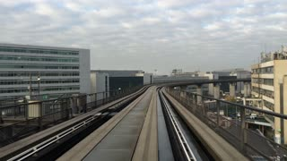 Tram ride at Frankfurt International Airport 4k