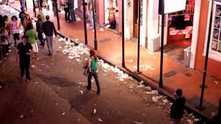 Trash on bourbon street mardi gras 2012