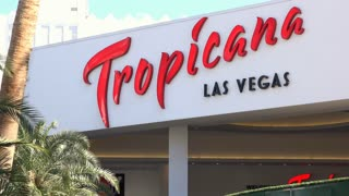 Tropicana Entrance in Las Vegas 4k