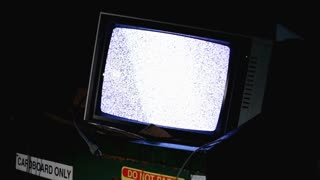 TV with static in dumpster