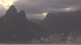 Two brothers mountain in Rio de Janeiro at sunset