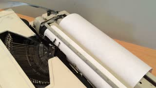 Typing random things on old typewriter