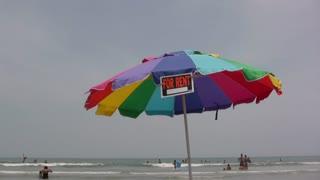 Umbrella on beach for rent