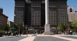 Union Square downtown San Francisco 4k.