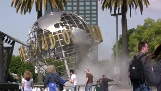 Universal Studios Globe Rotate
