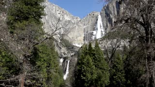Upper and Lower falls of Yosemite