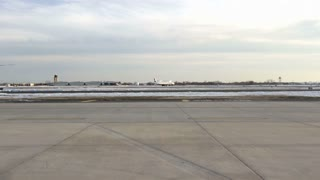 US Airways airplane on runway