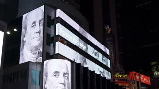 US Dollar to other foreign currency exchange rate on stock ticker 4k