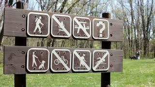 Various Camping Signs