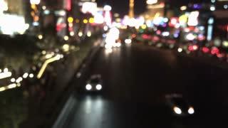 Vegas strip background blur