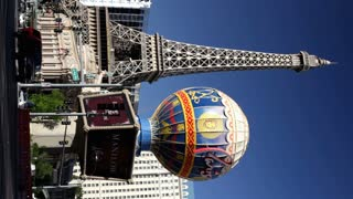 Vertical shot of Paris Hotel and casino