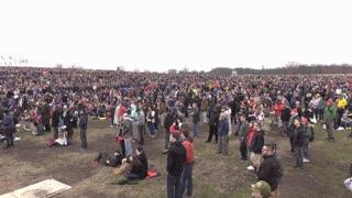2017 Inauguration crowd at Washington Monument 4k