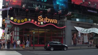 7th Avenue Subway Station with bright lights 4k