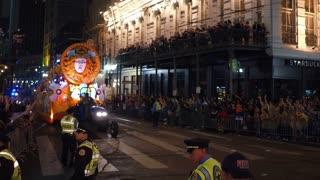 Adobe of Hermes float in 2018 Mardi Gras parade