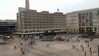 Alexanderplatz shopping area of Berlin