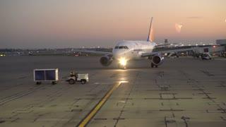 Allegiant Plane on tarmac at Cincinnati airport 4k