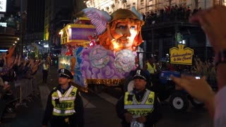 Ambassadors to the Court float in Hermes Mardi Gras parade
