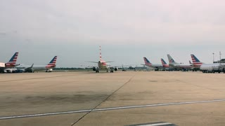 American Airline planes at Philadelphia airport
