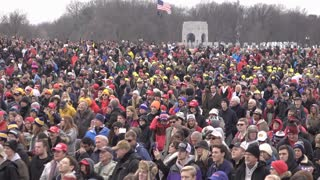 American People gathered at 2017 Trump inauguration 4k