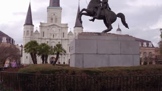 Andrew Jackson downtown New Orleans Jackson Square 4k