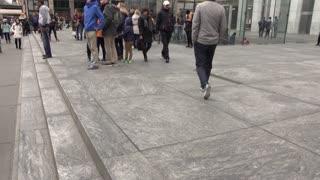 Apple store exterior tilt establishing shot 4k