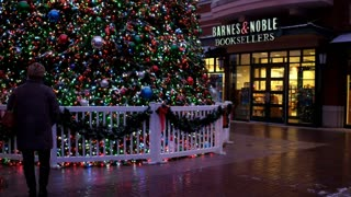 Barnes and Noble Booksellers Christmas at Newport Kentucky 4k