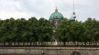 Berliner Dom hidden behind trees