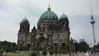Berliner Dom on cloudy day in Berlin