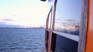 Boat ride back towards New York City 4k