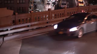 Busy streets night traffic in NYC 4k