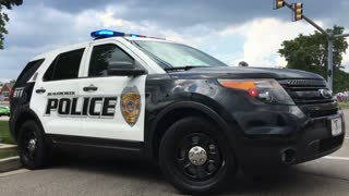 City police vehicle blocking intersection Beavercreek Ohio