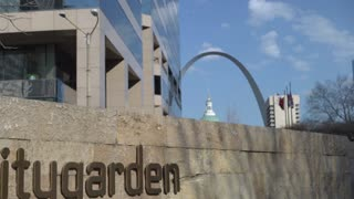 Citygarden in downtown St Louis Missouri 4k