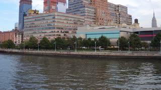 Construction on buildings near Hudson River NYC 4k