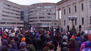 Courthouse Square filled with March For Our Lives Event Dayton Ohio 4k