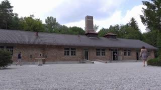 Crematorium exterior at Dachau concentration camp 4k