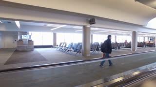 CVG airport departure terminal waiting area