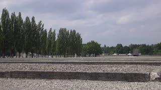 Dachau Concentration Camp building rubble 4k