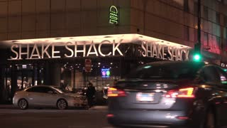 Downtown location of Shake Shack in Chicago Illinois 4k