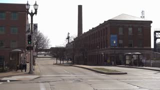 Downtown St Louis Streets near train station 4k