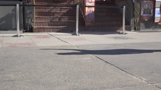 Entrance to Venice Beach Freak Show tilt establishing shot 4k