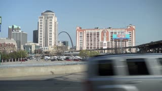 Establishing shot of St Louis Downtown City 4k