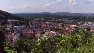 Establishing small town overview in Landstuhl Germany 4k