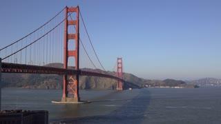 Establishing wide angle of Golden Gate Bridge in San Francisco 4k