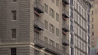 Exterior New York City Apartment Building tilt establishing shot 4k