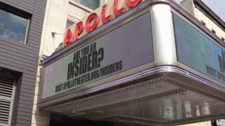 Exterior of Apollo Theater in downtown Harlem NYC 4k