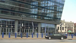 Exterior Scottrade Center Arena located in downtown St Louis 4k