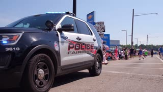 Fairborn Police vehicle along 4th of July parade route 4k