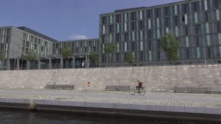 Federal Ministry of Education and Research seen from Spree River 4k