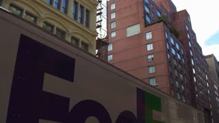 Fedex ground delivery truck in New York City 4k